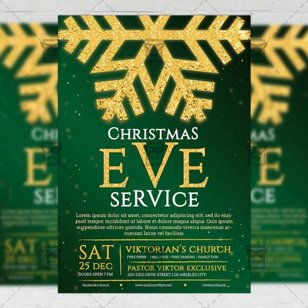 Download Xmas Service PSD Flyer Template Now