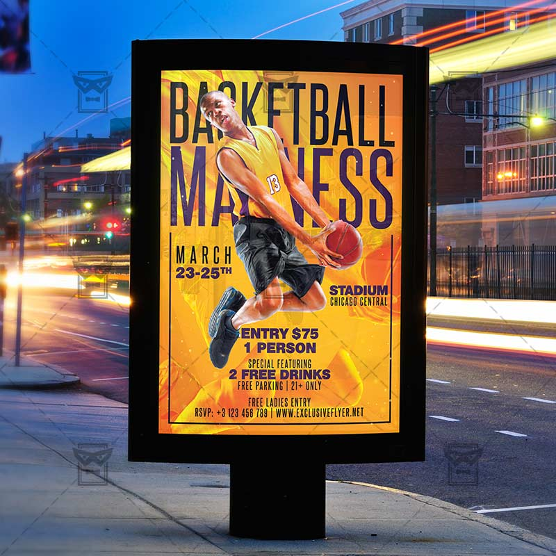 Download Basketball Madness PSD Flyer Template Now