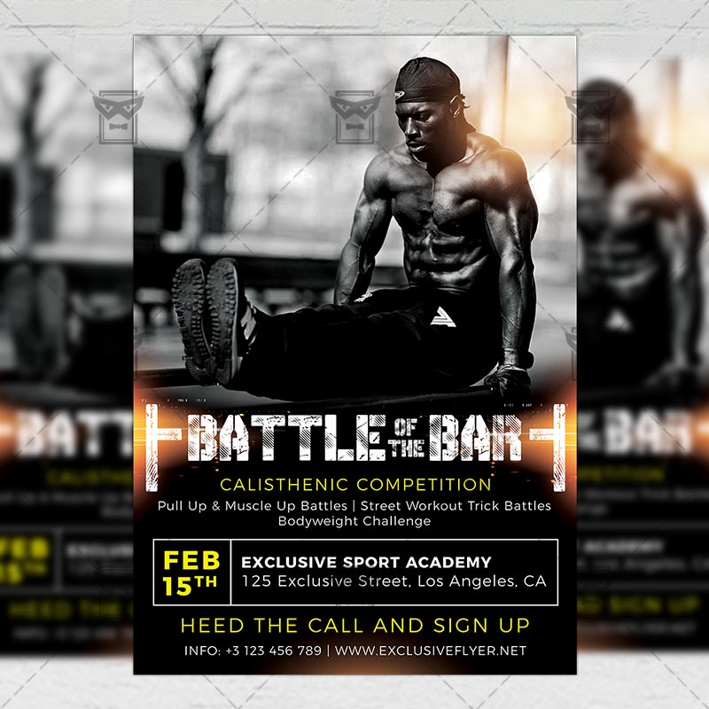 Download Battle of the Bars PSD Flyer Template Now