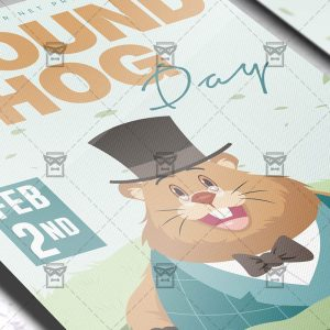 Download Ground Hog Day PSD Flyer Template Now
