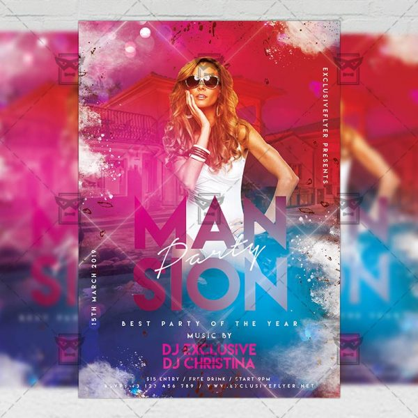 Download Mansion Party PSD Flyer Template Now