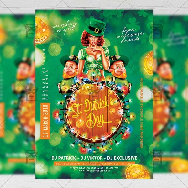 Download Patrick's Day Party PSD Flyer Template Now