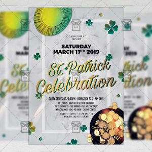 Download Saint Patrick Celebration PSD Flyer Template Now