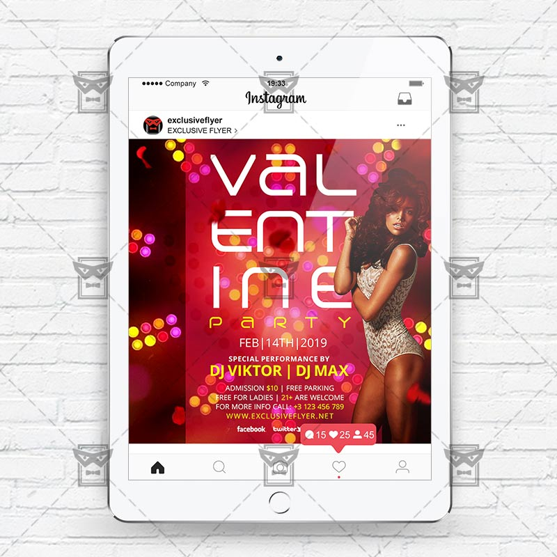 Valentine Party - Instagram Flyer Template | ExclsiveFlyer ...