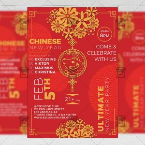 Download Year of the Pig Celebration PSD Flyer Template Now