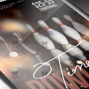 Download Bowling Time PSD Flyer Template Now