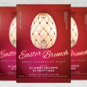 Download Easter Brunch 2019 PSD Flyer Template Now