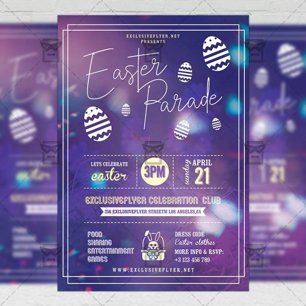 Download Easter Parade PSD Flyer Template Now