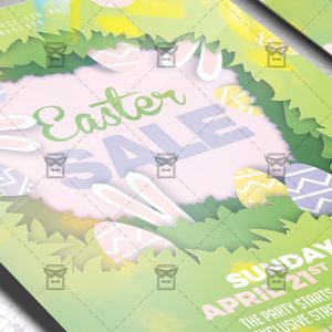 Download Easter Sale 2019 PSD Flyer Template Now