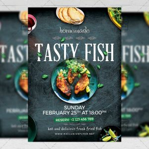 Download Fish Restaurant PSD Flyer Template Now