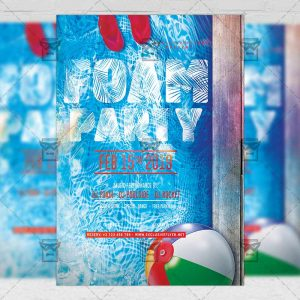 Download Foam Night Party PSD Flyer Template Now