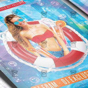 Download Foam Party Night PSD Flyer Template Now