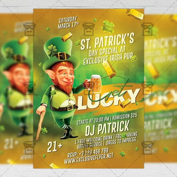 Download Get Lucky Night PSD Flyer Template Now