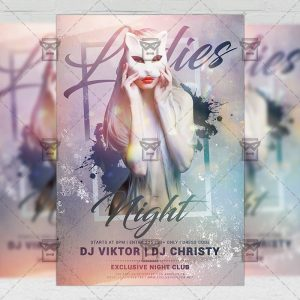 Download Ladies Club Night PSD Flyer Template Now