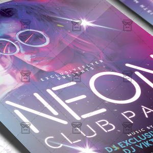 Download Neon Club Party PSD Flyer Template Now