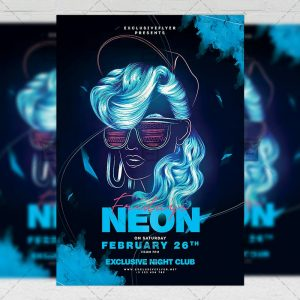 Download Neon Fridays PSD Flyer Template Now