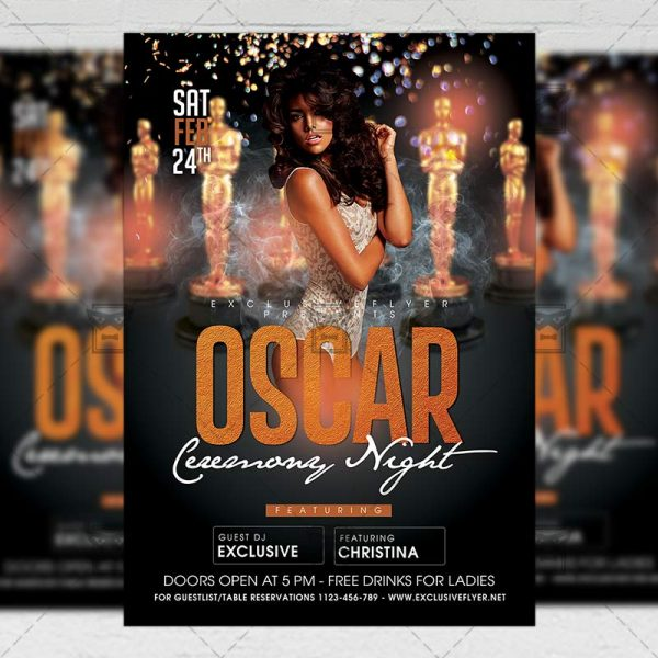 Download Oscar Ceremony Night PSD Flyer Template Now