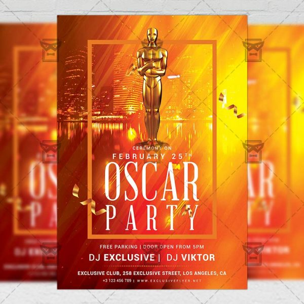 Oscar Party Flyer - Club A5 Template
