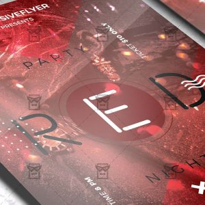 Download Red Party Night PSD Flyer Template Now