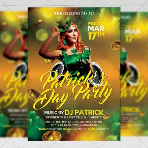 Download Saint Patrick's Day Free Seasonal A5 Flyer PSD Template Now