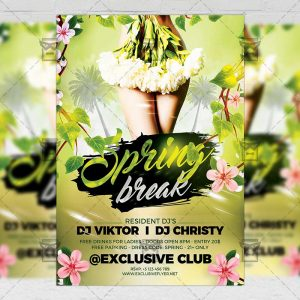 Download Spring Break Party Night PSD Flyer Template Now