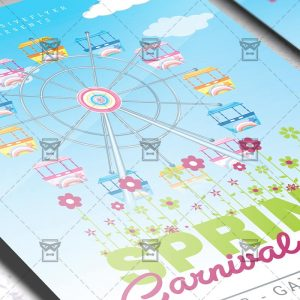 Download Spring Carnival Day PSD Flyer Template Now