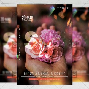 Download Spring Day PSD Flyer Template Now