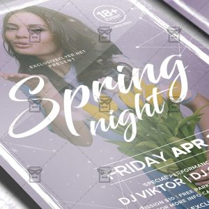 Download Spring Night PSD Flyer Template Now