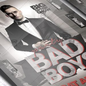 Download Bad Boys Party PSD Flyer Template Now