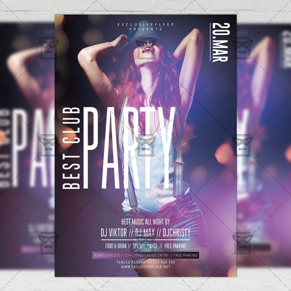 Download Best Club Party PSD Flyer Template Now