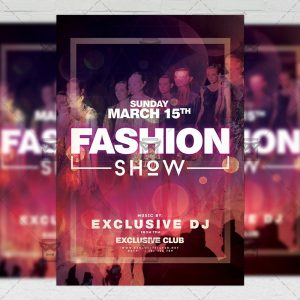 Download Fashion Week Show PSD Flyer Template Now