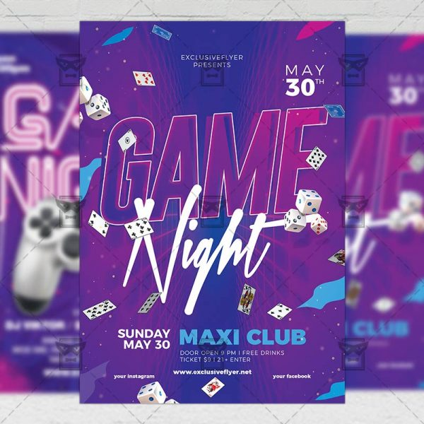 Download Game Party PSD Flyer Template Now