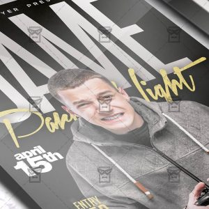Download Game Party Night PSD Flyer Template Now