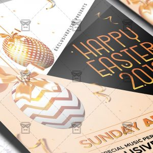 Download Happy Easter 2019 PSD Flyer Template Now