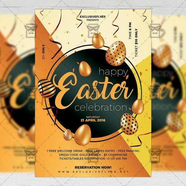 Download Happy Easter Celebration 2019 PSD Flyer Template Now