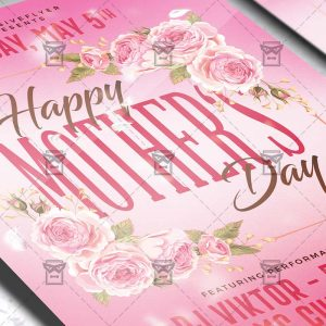 Download Happy Mother Day 2019 PSD Flyer Template Now