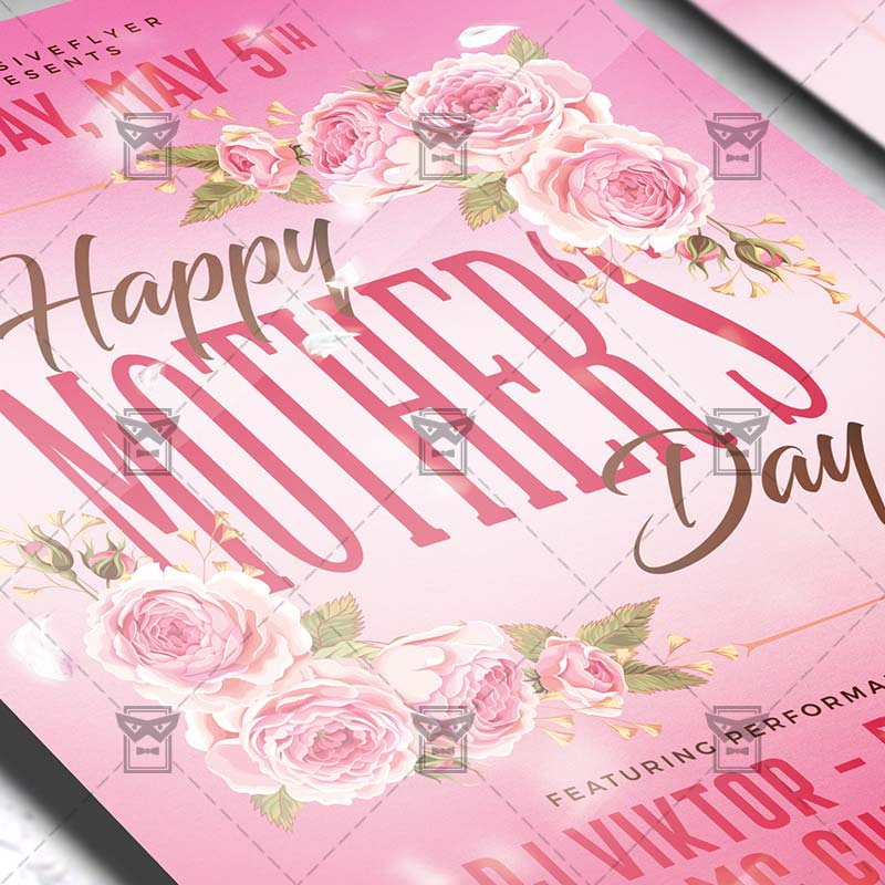 I Love You Mom Happy Mothers Day Flyer Template Psd Free: Happy Mother Day 2019 Flyer