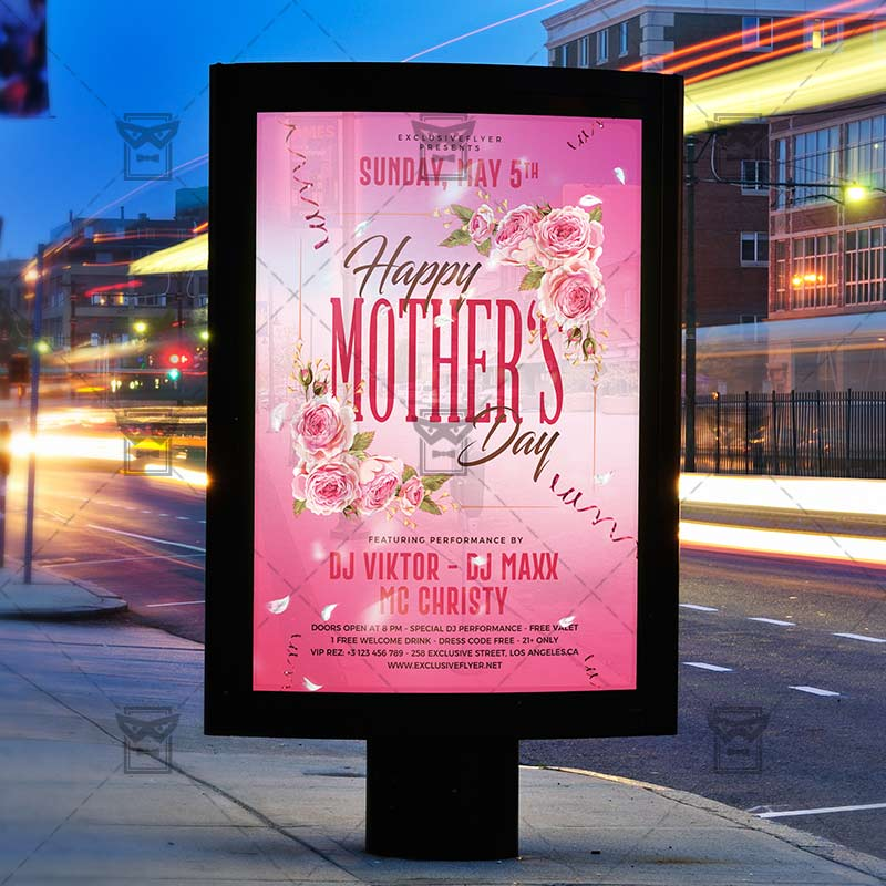 Mom Day Sale Ͽ� Seasonal A5 Flyer Template: Happy Mother Day 2019 Flyer