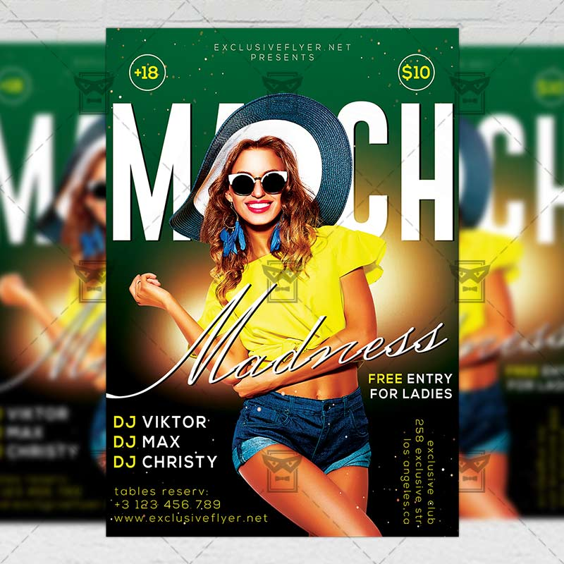 Download March Madness 2019 PSD Flyer Template Now