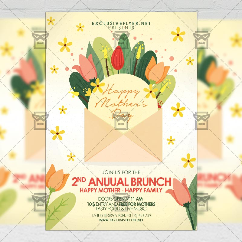 Mothers Day Sale Flyer Psd Template: Mother's Day 2019 Flyer
