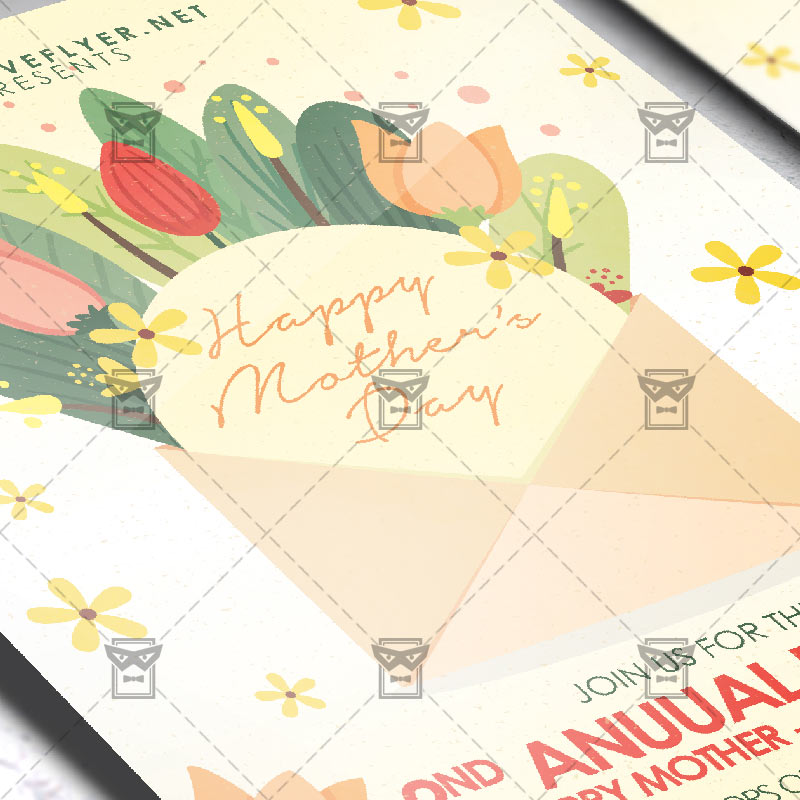 Mom Day Sale Ͽ� Seasonal A5 Flyer Template: Mother's Day 2019 Flyer