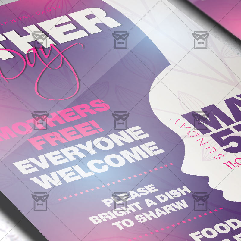 Mom Day Sale Ͽ� Seasonal A5 Flyer Template: Mother's Day Australia 2019 Flyer