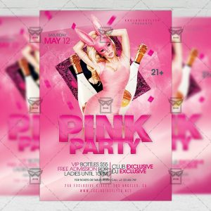 Download Pink Bash PSD Flyer Template Now
