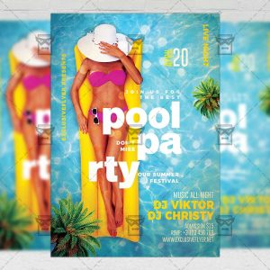 Pool Party 2019 Flyer - Seasonal A5 Template