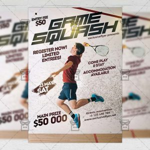 Download Game Squash PSD Flyer Template Now
