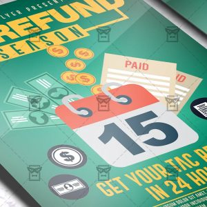Download Tax Refund PSD Flyer Template Now