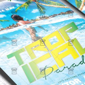 Download Tropical Paradise PSD Flyer Template Now