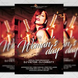 Download Woman's Day Bash PSD Flyer Template Now