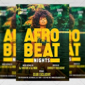 Download Afro Beat Nights PSD Flyer Template Now