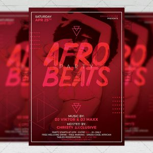Download Afro Beats Party PSD Flyer Template Now
